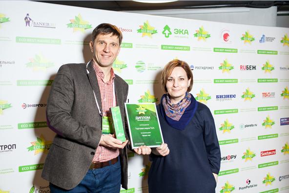 Tork Reflex отмечен премией ECO BEST AWARD в номинации «продукт года»